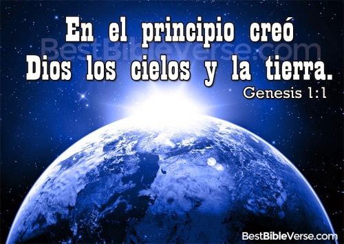 Genesis Spanish Bible Quotes and Vesre images